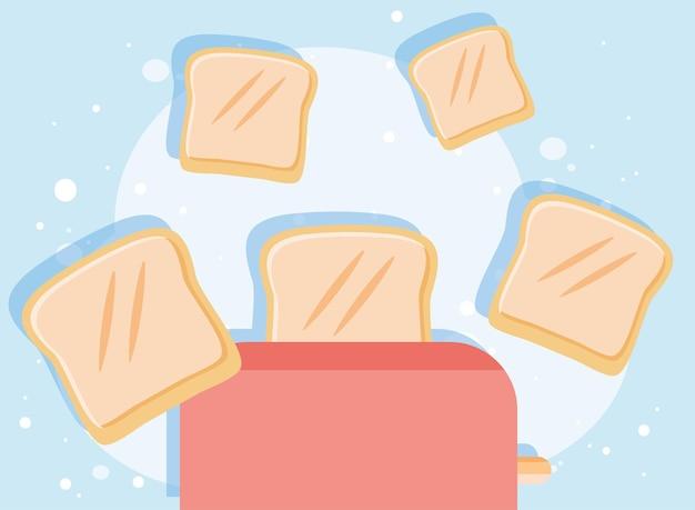 Bread toaster kitchen device