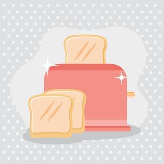 Bread toaster machine appliance icon