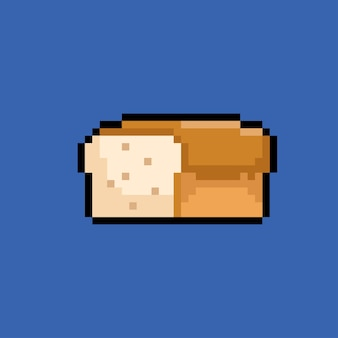 Bread with pixel art style