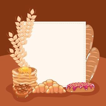 구운 빵과 보드