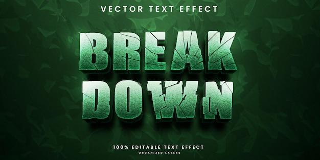 Break down editable text effect