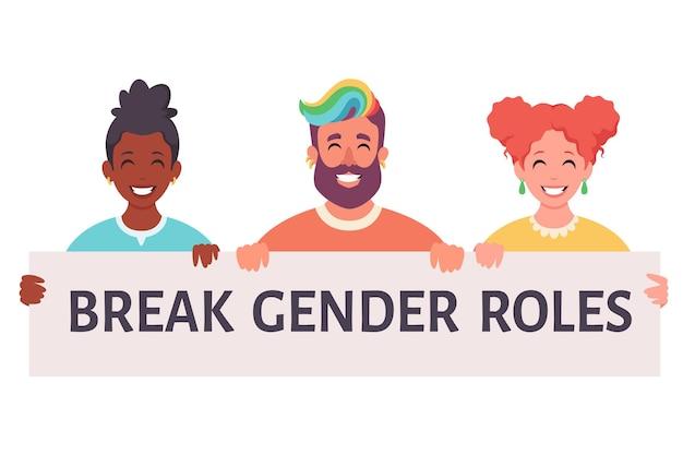 Break gender roles genderneutral movement nonbinary lgbtq pride