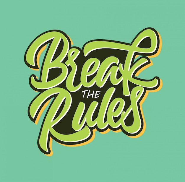 Break the rules typography inspiration