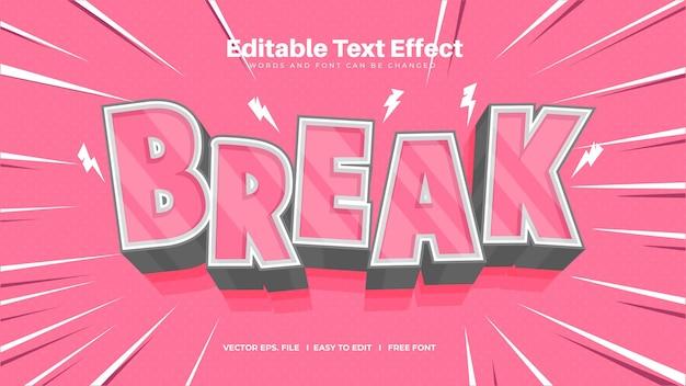 Шаблон эффекта разрыва текста