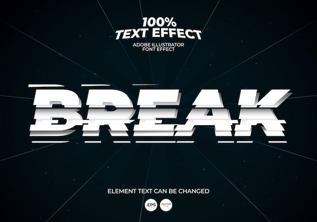 Break text effect