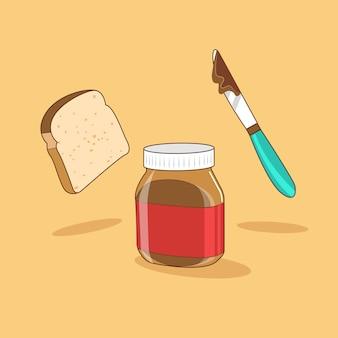 Хлеб и шоколад спрей