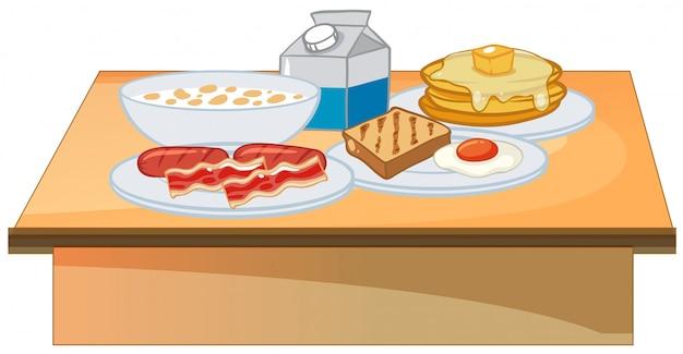 Colazione a buffet set di cibo