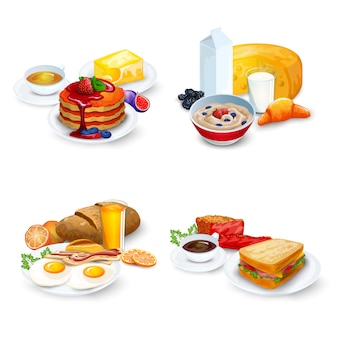 Breakfast compositions set