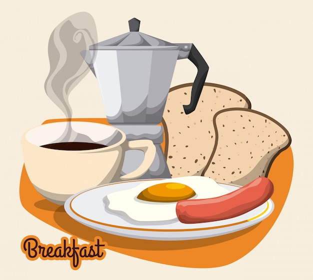 Breakfast design.