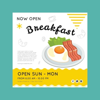 Breakfast flyer template