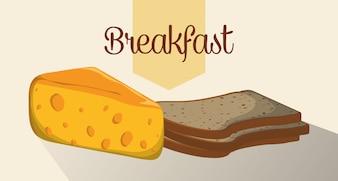 朝食用食品デザイン