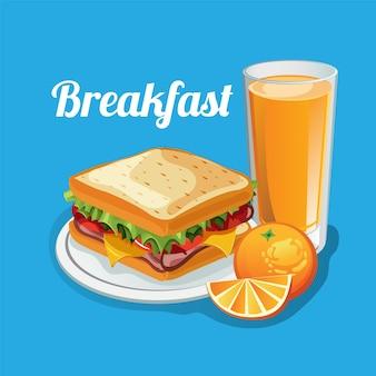 Breakfast food sandwich