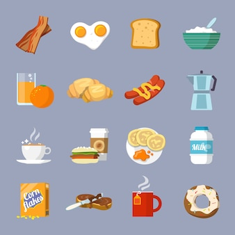 Breakfast icon flat