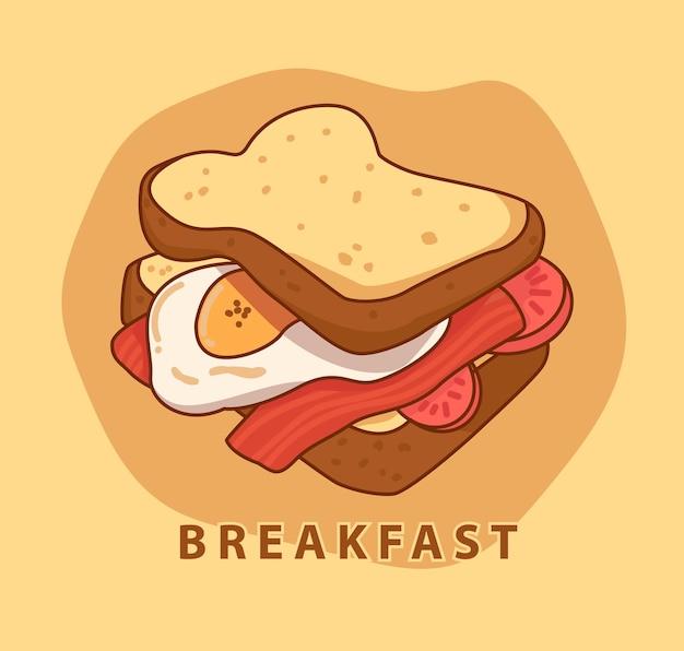 Завтрак иллюстрация
