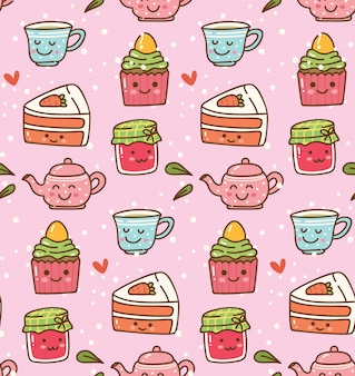 Breakfast kawaii background
