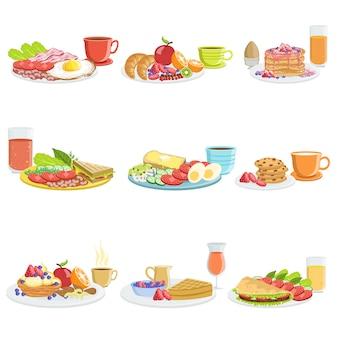 Завтрак еда разные наборы
