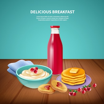 Breakfast realistic