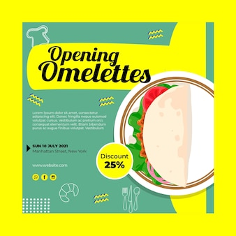 Breakfast restaurant flyer template Free Vector