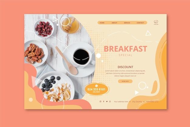 Pagina di destinazione del ristorante per la colazione