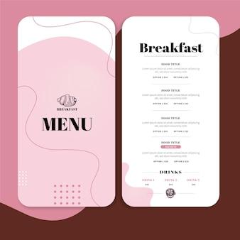 Breakfast restaurant menu template