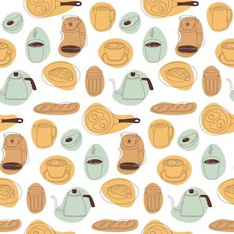 朝食のシームレスなパターン