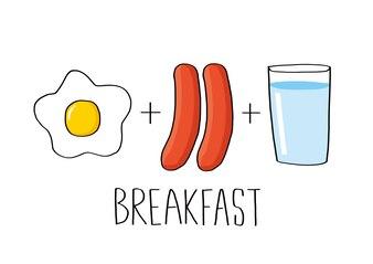 Breakfast set vector illustration