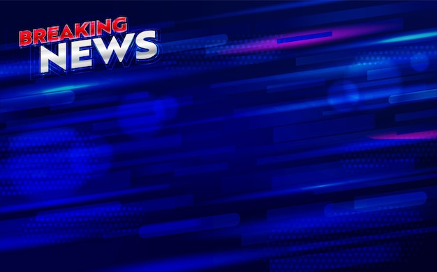 Breaking news banner for broadcast channel or internet tv