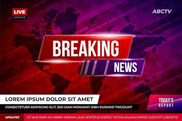 Breaking news banner template