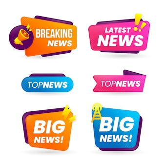 Breaking news banners design
