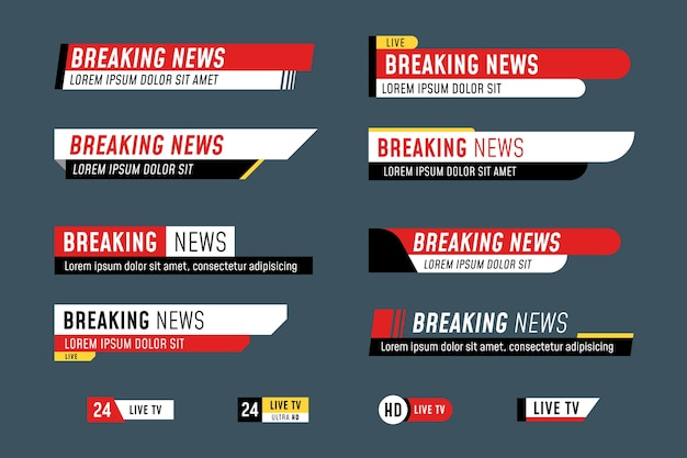 Breaking news banners style