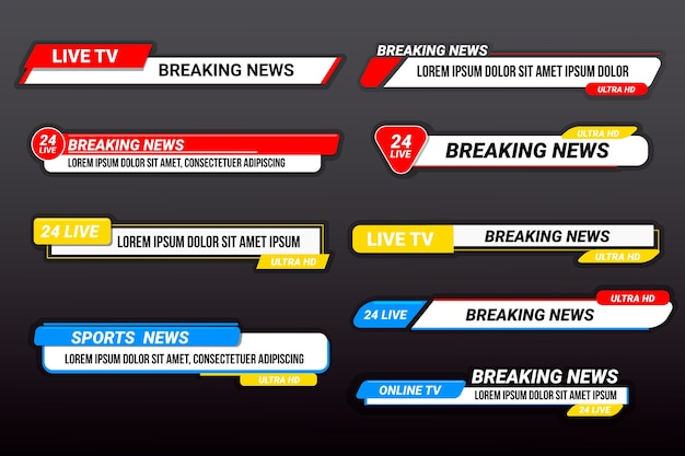 Breaking news banners template style