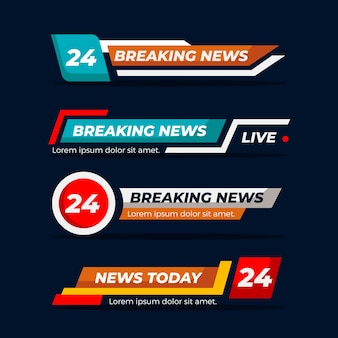 Breaking news banners theme