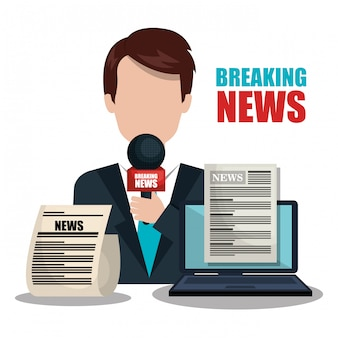 Breaking news design