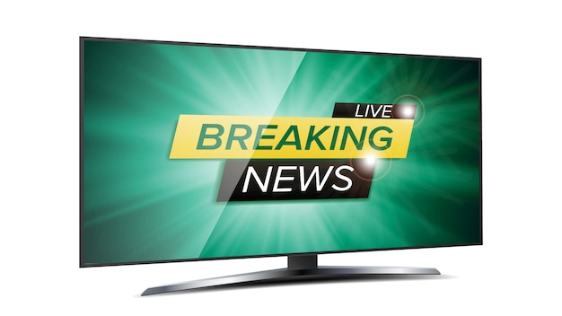 Breaking news live background