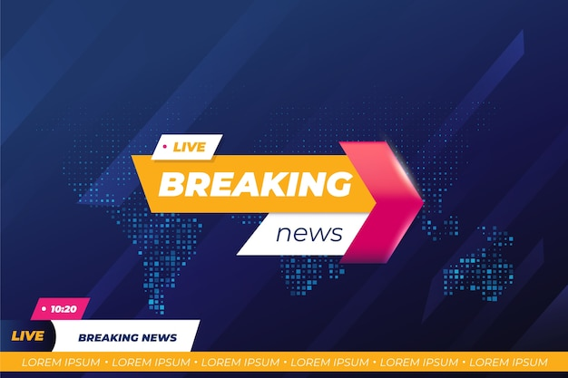 Breaking news template design