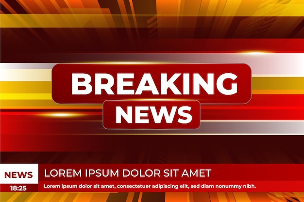 Breaking news template style