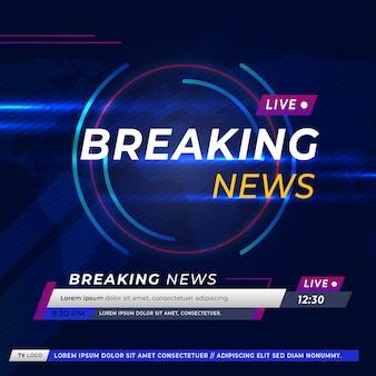 Breaking news on tv and online websites