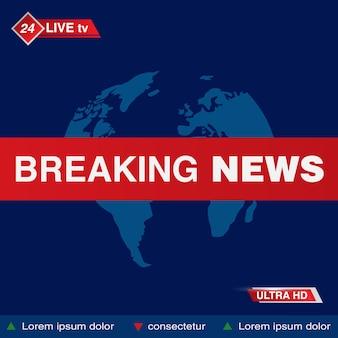 Breaking news tv studio
