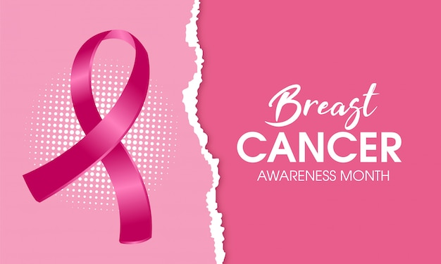 Breast cancer awareness banner background