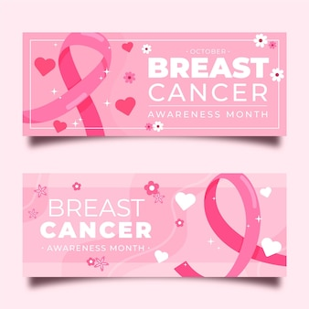 Breast cancer awareness banners