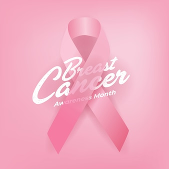 Breast cancer awareness calligraphy poster.