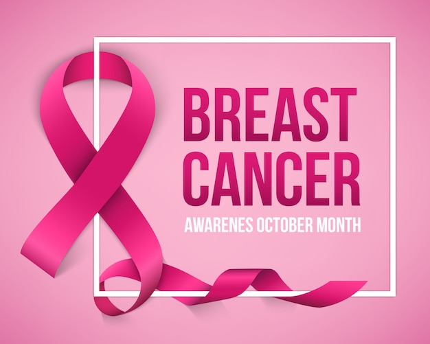 Breast cancer awareness campaign background.