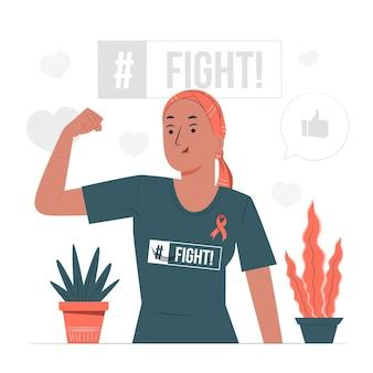 Illustrazione di concetto di consapevolezza del cancro al seno
