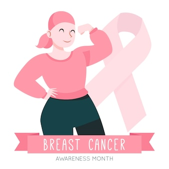 Breast cancer awareness concept Free Vector
