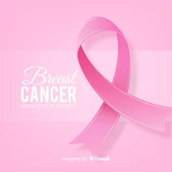 Breast cancer awareness event realistic design