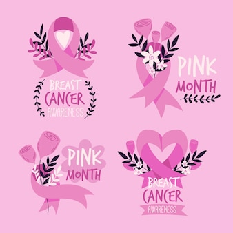 Breast cancer awareness label pack