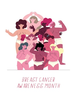 Breast cancer awareness lettering