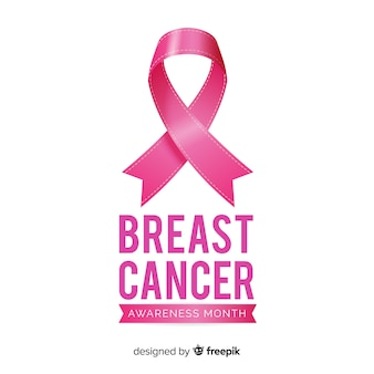 Breast cancer awareness month background with pink ribbon