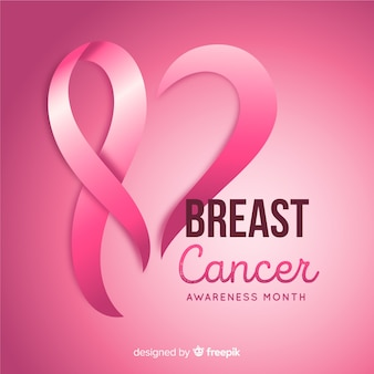 Breast cancer awareness month background