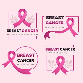 乳がん啓発月間バッジコレクション
